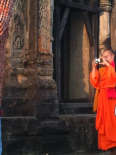 Monks are tourists too!