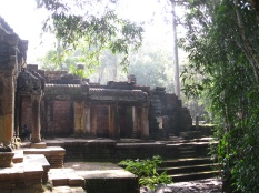 Leaving Ta Prohm